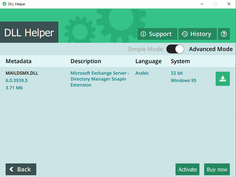 DLL Helper - screen 2
